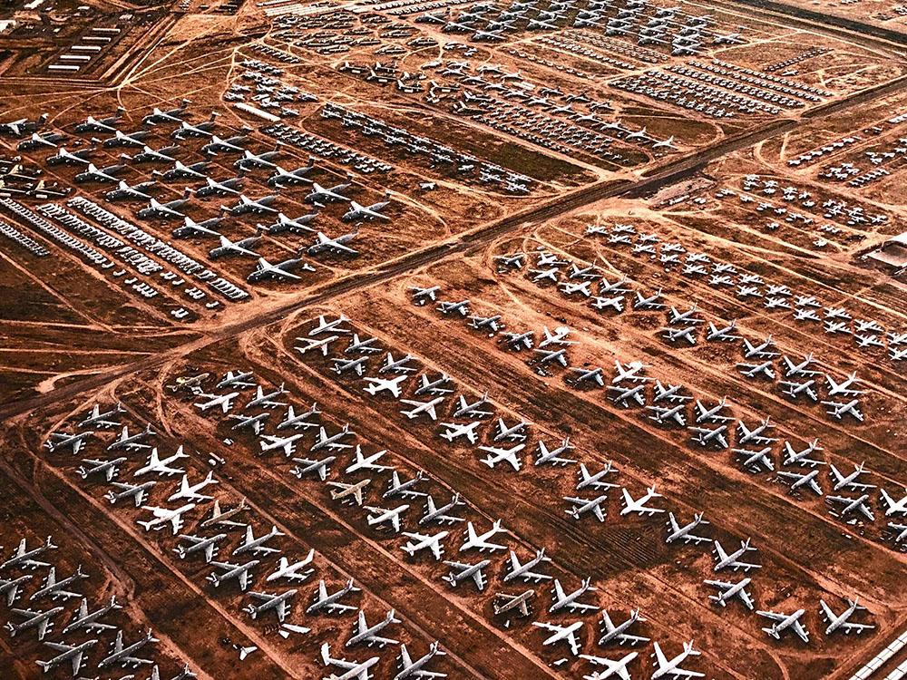 Склад списанных самолётов