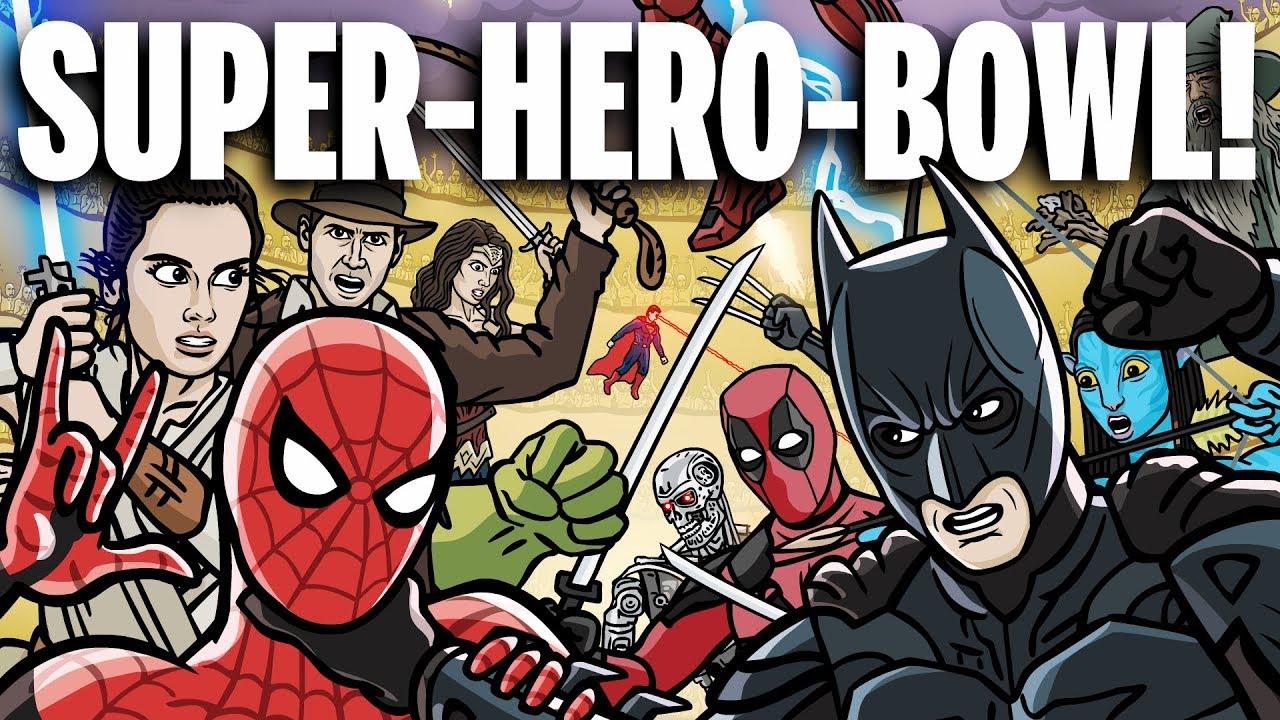 Битва всех супергероев
