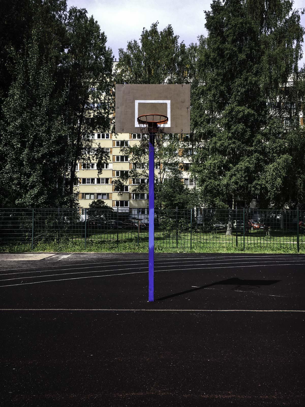 Побросал баскетбольный мяч