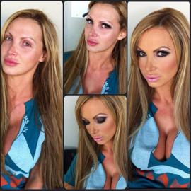 Зачем девушки красятся: Привычка рисовать себе чужое лицо, выдавая за другого человека