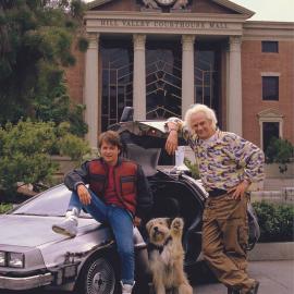 Момент со съёмок фильма Назад в будущее 2 (1989)