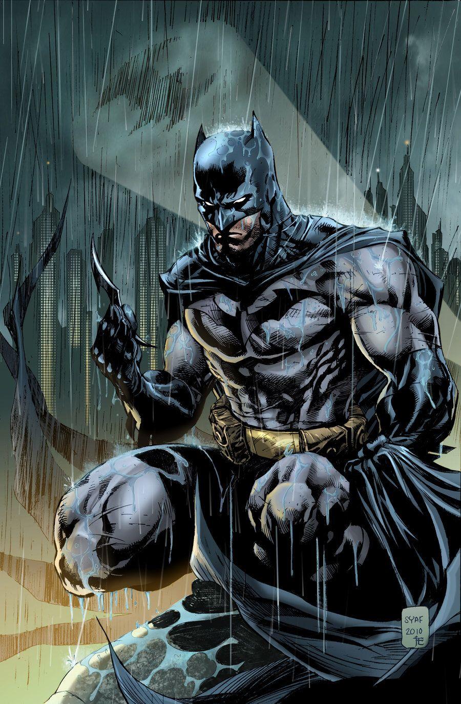 Эпичный Бэтмен под дождём