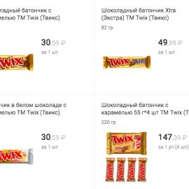 Twix: Набор дороже отдельных шоколадок