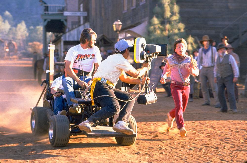 Кадр со съёмок Назад в будущее 3 (1990)
