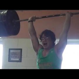 Clarence0: Толчок штанги 220 кг. Тяга 340 кг