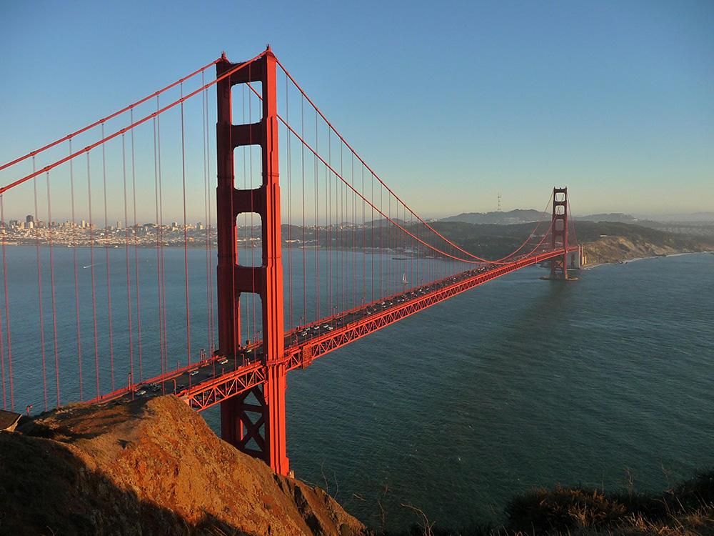 Мост Golden Gate с непривычного ракурса